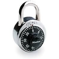 Master Lock 【正規輸入品】 ダイヤル式南京錠 ブラック 1500D