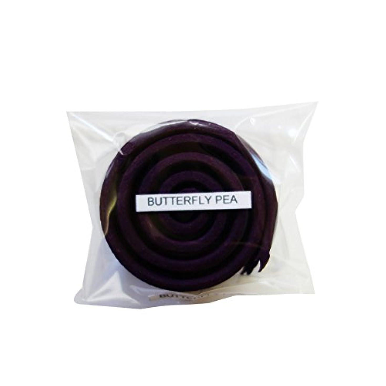 ピース櫛ドキドキお香/うずまき香 BUTTERFLY PEA バタフライピー 直径5cm×5巻セット [並行輸入品]