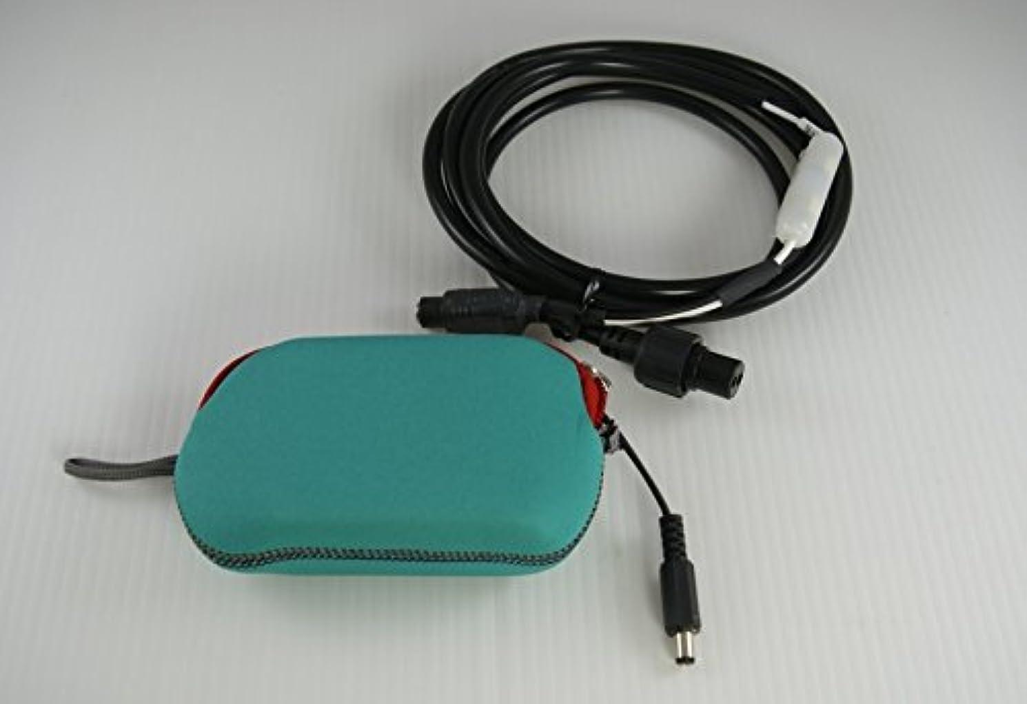 侵入するバーガー付添人HONDEX 魚探 PSシリーズ 電源コードDC06 エネループ用 電池ボックス セット(ブルーグリーン)