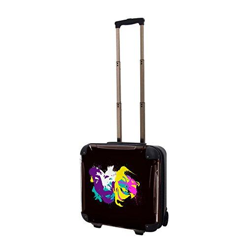 CARART(キャラート) アート スーツケース NISHI two face ジッパー2輪 機内持込 J10514