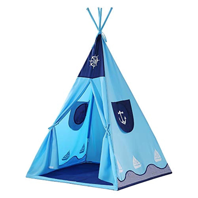 屋内と屋外の子供のテント、男の子の家のゲームハウス、TCポリエステル綿布ファイバーロッドブラケット