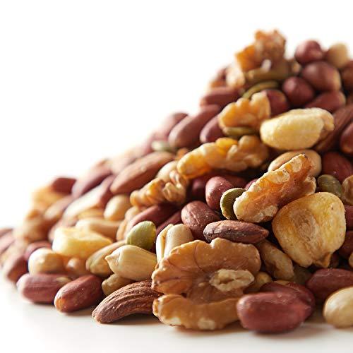 うす塩 ミックスナッツ 6種 (薄皮ピーナッツ、アーモンド、くるみ、ジャイアントコーン、かぼちゃの種、バターピーナッツ)(500g)