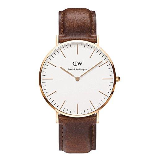 ダニエルウェリントン Daniel Wellington 時計 メンズ 腕時計 40mm Classic クラシック Rose Gold ローズゴールド [並行輸入品]