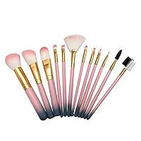 化粧ブラシセット、グラデーション化粧ブラシ12バケツ化粧ツールアイシャドウブラシリップブラシカラーセットブラシ