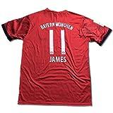 サッカーユニフォーム 2018-2019モデル バイエルンミュンヘン ホーム ハメス・ロドリゲス JAMES 背番号11 レプリカサッカーユニフォーム大人用 M