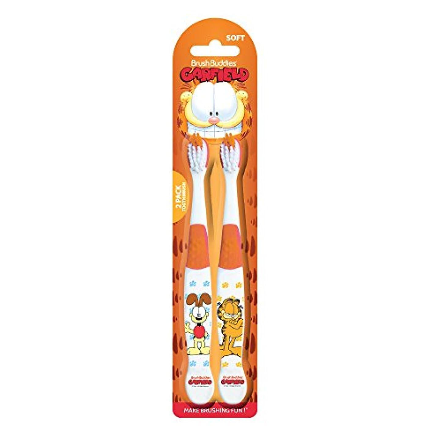 Brush Buddies ガーフィールドとオディ歯ブラシ2パック