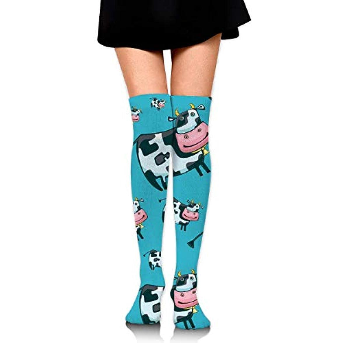 管理者食事を調理する比類なきMKLOS 通気性 圧縮ソックス Breathable Thigh High Socks Over Exotic Psychedelic Print Compression High Tube Thigh Boot Stockings...