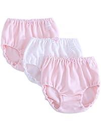 kinokoo キッズ ブリーフパンツ 3枚セット 女の子パンツ 女の子下着 女児 綿 シンプル 100-160㎝