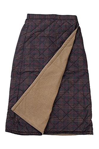 onion cross 3way仕様 巻きスカート ラップスカート 山ガールファッション キルティングスカート (LL, 赤77)