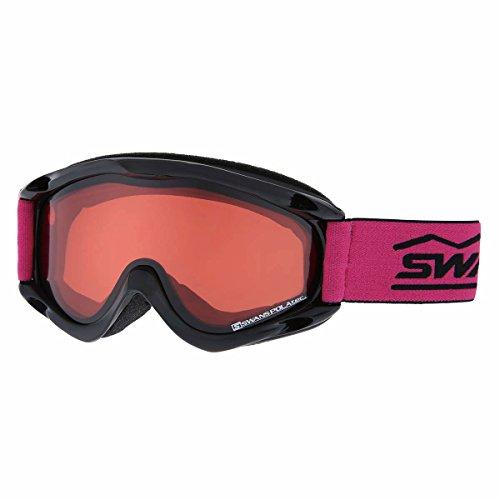 SWANS(スワンズ)スノーゴーグル ヘルメット対応 偏光レンズ ダブルレンズ ジュニア用 CHAMBO-PDH BKブラック F