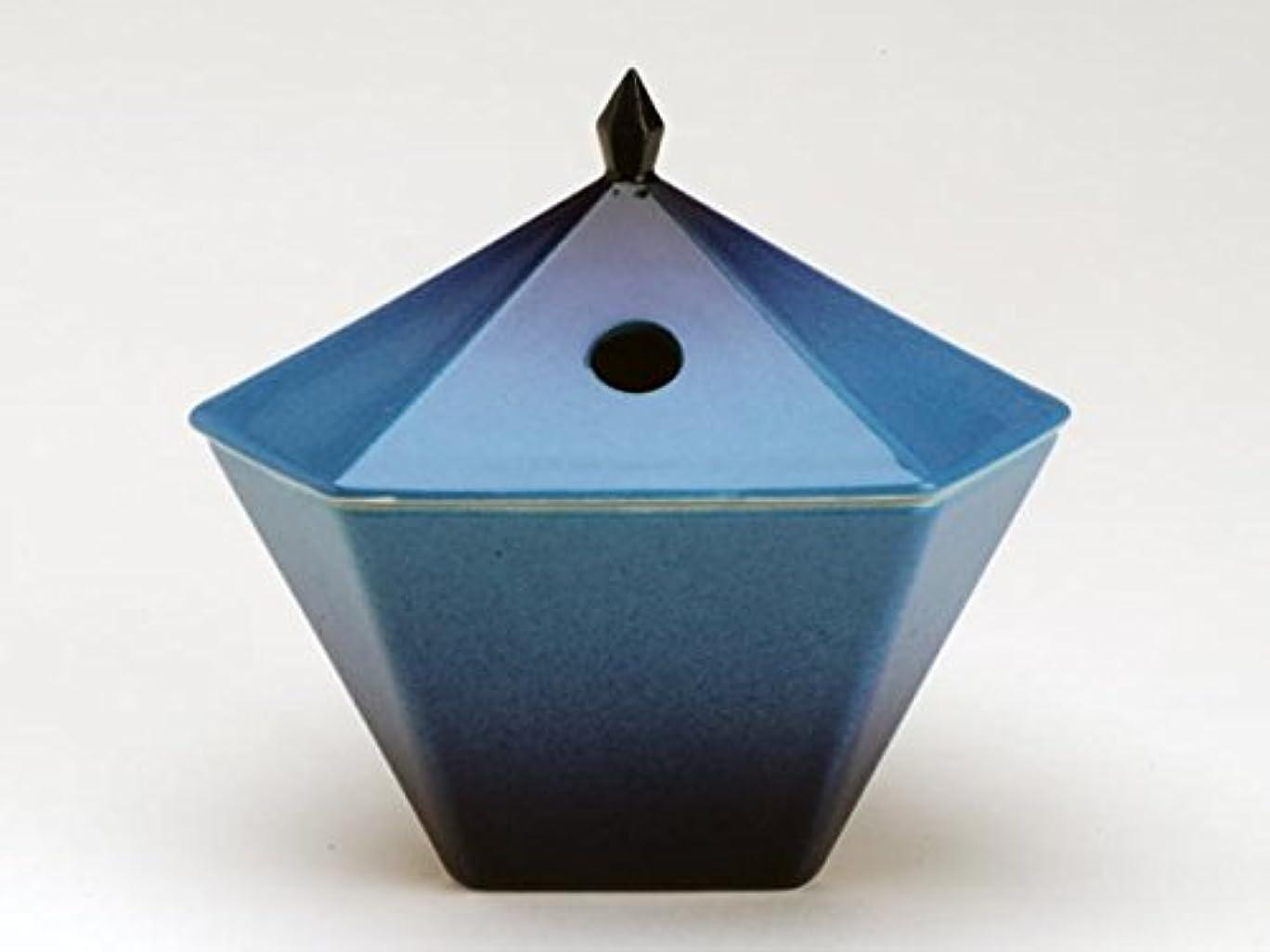 タイマー優しさ移行する縁 香炉 青 日本香堂