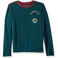 Guess Boys' Big Long Sleeve Front Pocket Logo T-Shirt