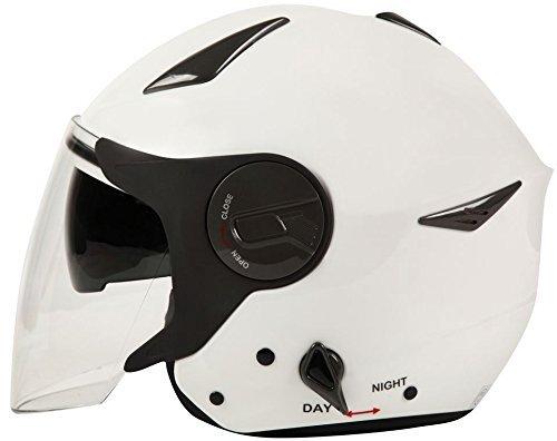 ダブルシールド装備 ジェットヘルメット ホワイト