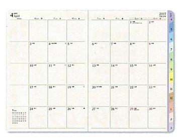 日本能率協会 17-18 4月始 王様のブランチ×ペイジェム 週間 A6-i メモ ローズ