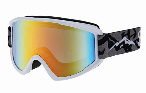 SWANS(スワンズ)メガネ対応 オレンジミラーダブルレンズ 大人用 スノーゴーグル 100MDH MAWマットホワイト F