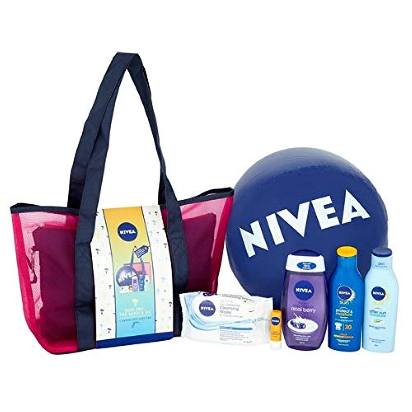 おなじみのタウポ湖スピーカー[Nivea ] ニベアの太陽、海、砂&私のギフトパック - NIVEA Sun, Sea, The Sand & Me Gift Pack [並行輸入品]