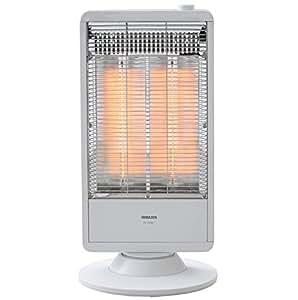 山善 遠赤外線カーボンヒーター(900W/450W 2段階切替) 自動首振り機能付 ホワイト DC-S097(W)