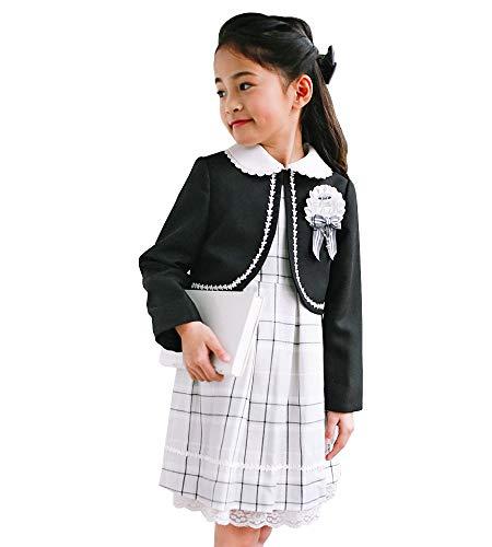 入学式 子供 女の子 スーツ 卒園式 子供服 3点セット フォーマル キッズ 110 120 130 結婚式 発表会 LITTLE LEAD 363751314 120cm