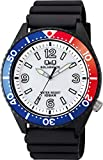 [シチズン Q&Q] 腕時計 アナログ ソーラー 防水 ウレタンベルト 白 文字盤 H064-004 メンズ ブラック