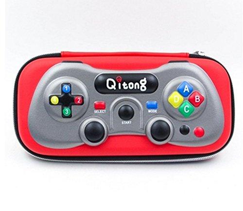 [ MT On&Do ] ペンケース 筆箱 ペン入れ ゲーム型 ユニーク おもしろ 個性 被らない 唯一 筆記用具 収納 メンズ ゲーム好き (レッド)
