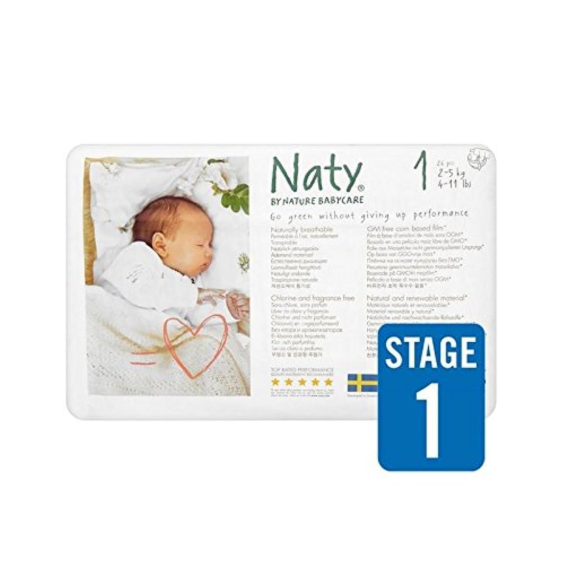 ぶどう四分円交じる1パックNatyサイズ1キャリー26 (Nature) (x 6) - Naty Size 1 Carry 26 per pack (Pack of 6) [並行輸入品]