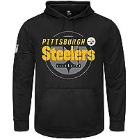 マジェスティック (Majestic) GREAT VALUE パーカー - ピッツバーグ?スティーラーズ (Pittsburgh Steelers) ブラック