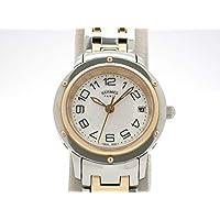 (エルメス) HERMES 腕時計 クリッパー レディース時計 シェル 新型モデル K18PG/SS CP1.221 レディース 中古