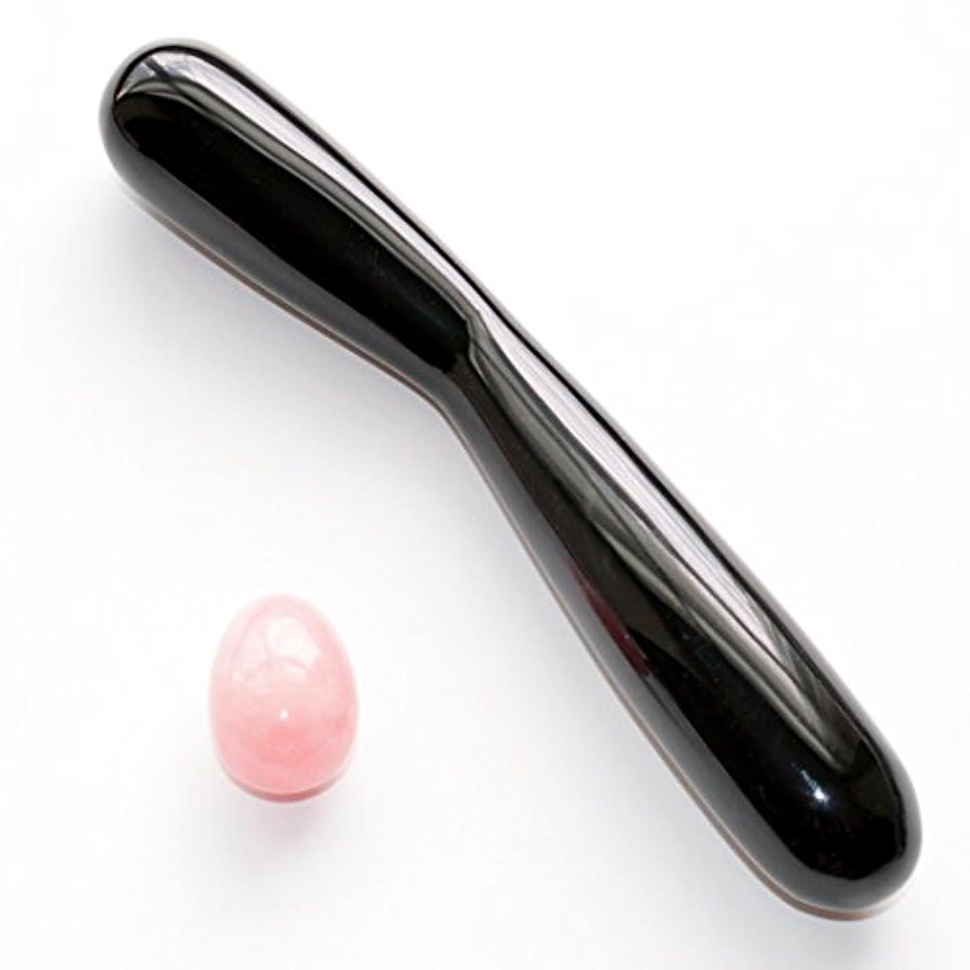 多分適合しましたところでローズクォーツのエッグとオブシディアンのマッサージ棒(AISE 2.0) コンボ、膣トレ ジェード?エッグ?エクササイズ 及びヨニ?マッサージに