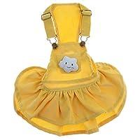 B Blesiya 猫/犬服 ペット服 アパレル スカート ドレス おしゃれ 仮装 お出かけウェアに 冬 暖かい 黄
