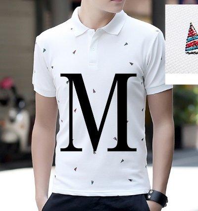 (メイク トゥ ビー) Make 2 Be カジュアル メンズ ポロシャツ ゴルフ MF29 (50.白_船柄_M)