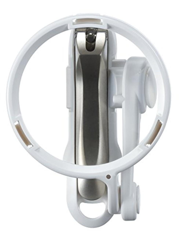 マニュアル論理的理想的直径70mm ルーペ付きステンレス製爪切り QQ-02