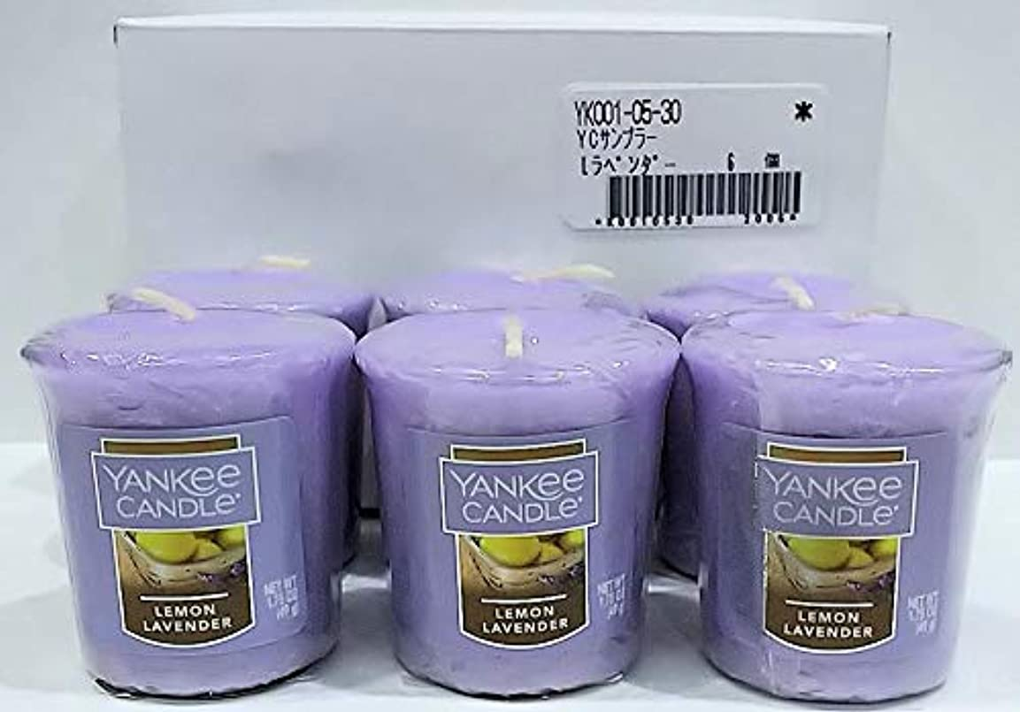 おびえたネーピアストローヤンキーキャンドル サンプラー お試しサイズ レモンラベンダー 6個セット 燃焼時間約15時間 YANKEECANDLE アメリカ製