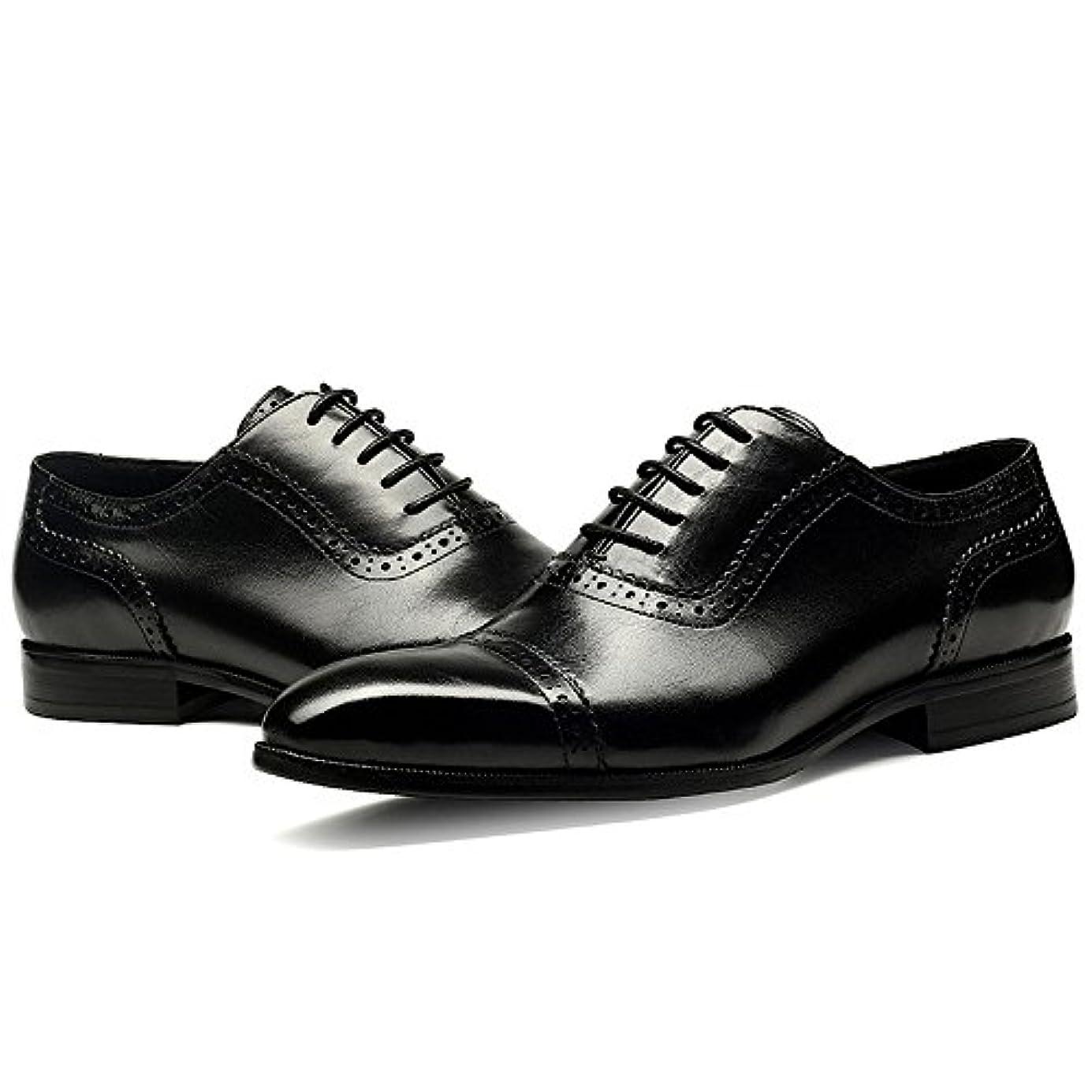 推進力有利広々とした高品質 本革 メンズ ビジネス レザーシューズ 革靴 紳士靴 通気性 空気循環 消臭 衝撃吸収 幅広 軽量 ビジネスシューズ ウォーキング リーガル 靴