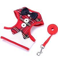Domitua 胸部牽引ベルト子犬ベストベアベルトペット用品弓イブニングドレス (Color : 2, Size : M)