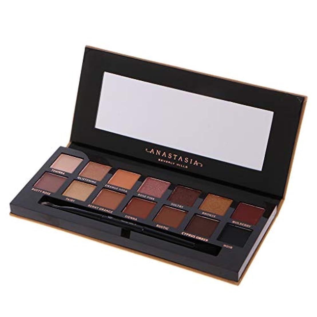 制限下品鳴らすLamdoo 1ボックス14色アイシャドウ化粧アイシャドウパレットマットハイライト光沢のあるミラーブラシでプロフェッショナルシマーパーティースモーキーヌード化粧品
