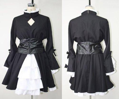 Fate hollow ataraxia フェイト ホロウ アタラクシア 黒セイバー風 衣装 サイズ:女性XL