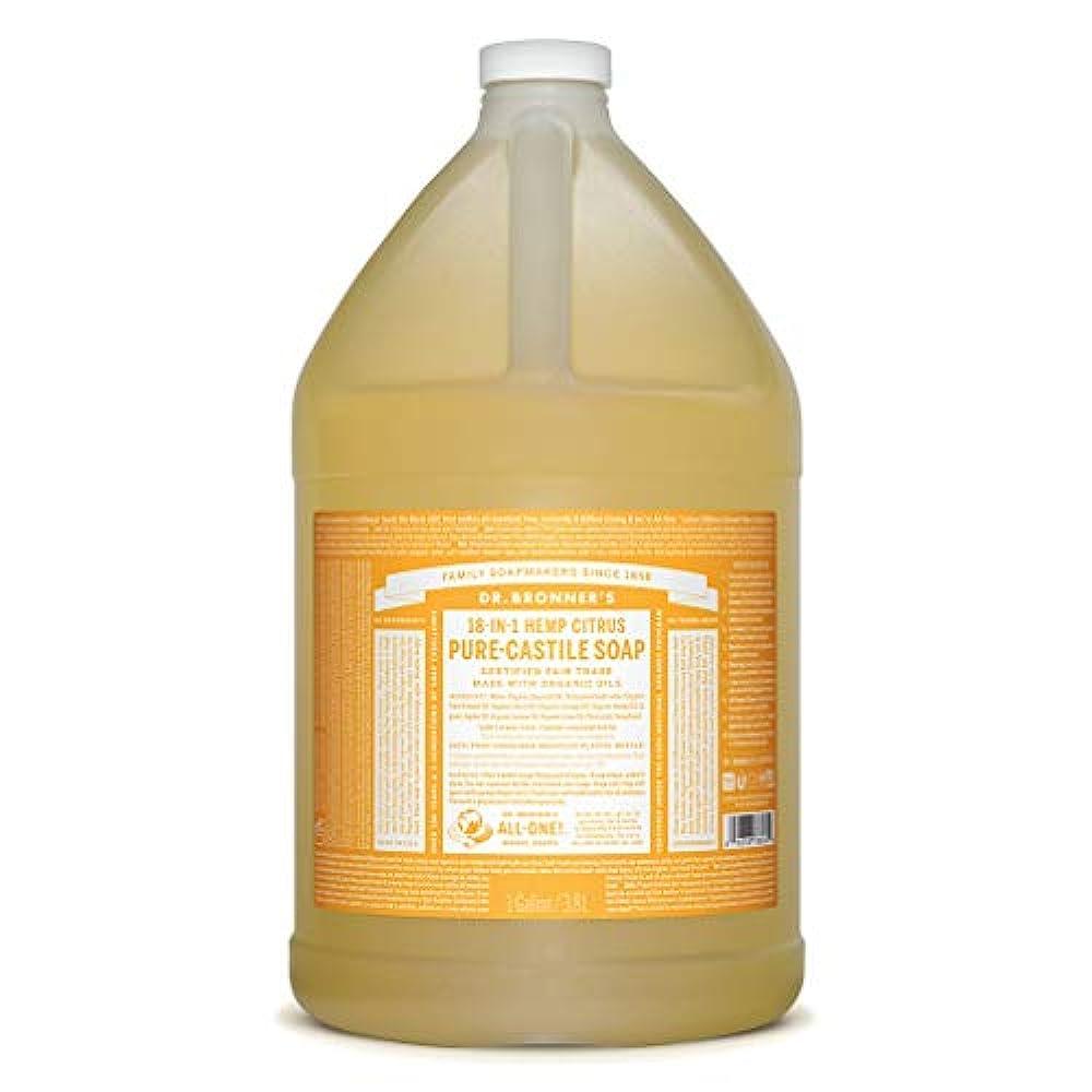 実行する地下室葉っぱDrブロナー マジックソープ 3780ml シトラスオレンジ