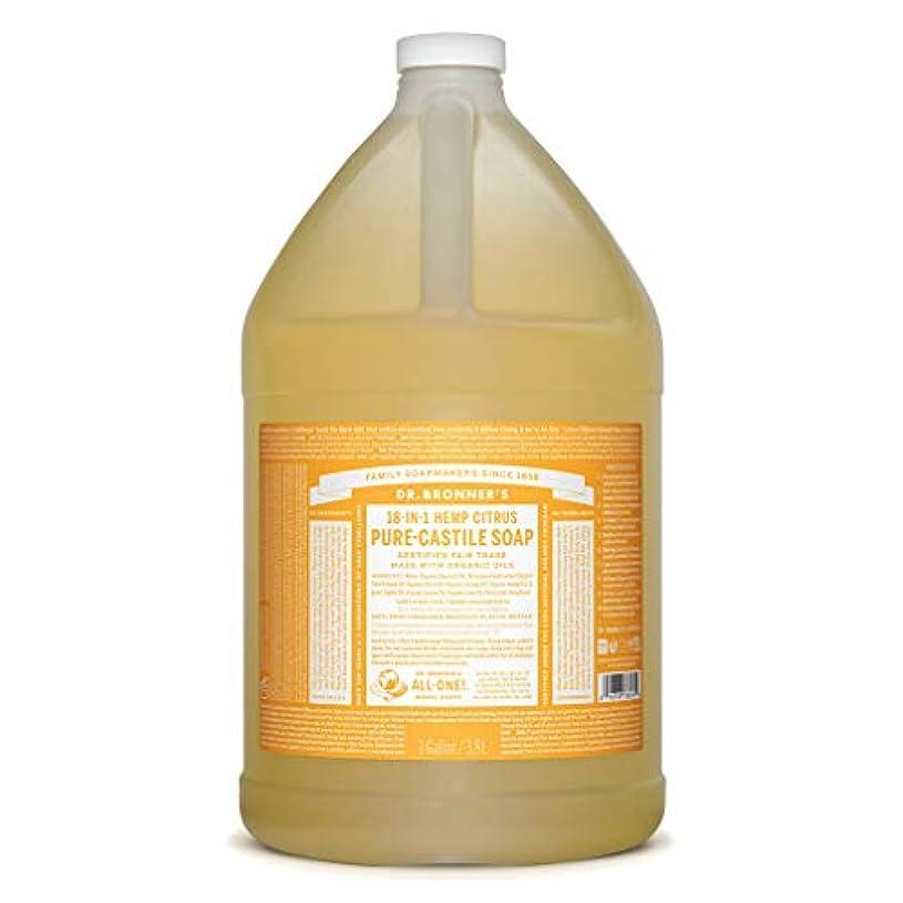 フラッシュのように素早く名前を作る内向きDrブロナー マジックソープ 3780ml シトラスオレンジ
