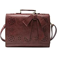 "ECOSUSI Ladies PU Leather Laptop Bag Briefcase Crossbody Messenger Bags Satchel Purse Fit 14"" Laptop"