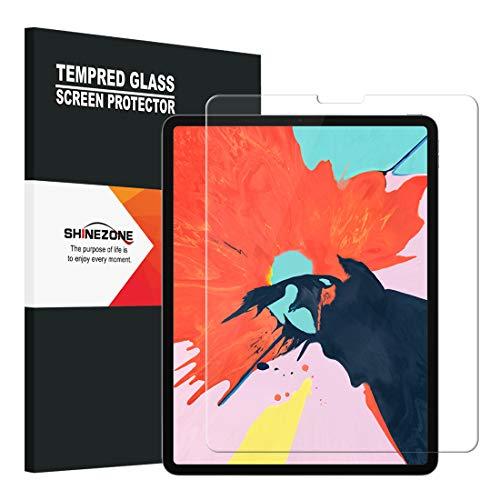 SHINEZONE 【FaceID対応】iPad Pro 12.9 2018 フィルム AGC旭硝子素材 0.3mm 2.5Dラウンドエッジ加工 9H硬度 飛散防止 指紋防止 iPad Pro 12.9 2018 ガラスフィルム