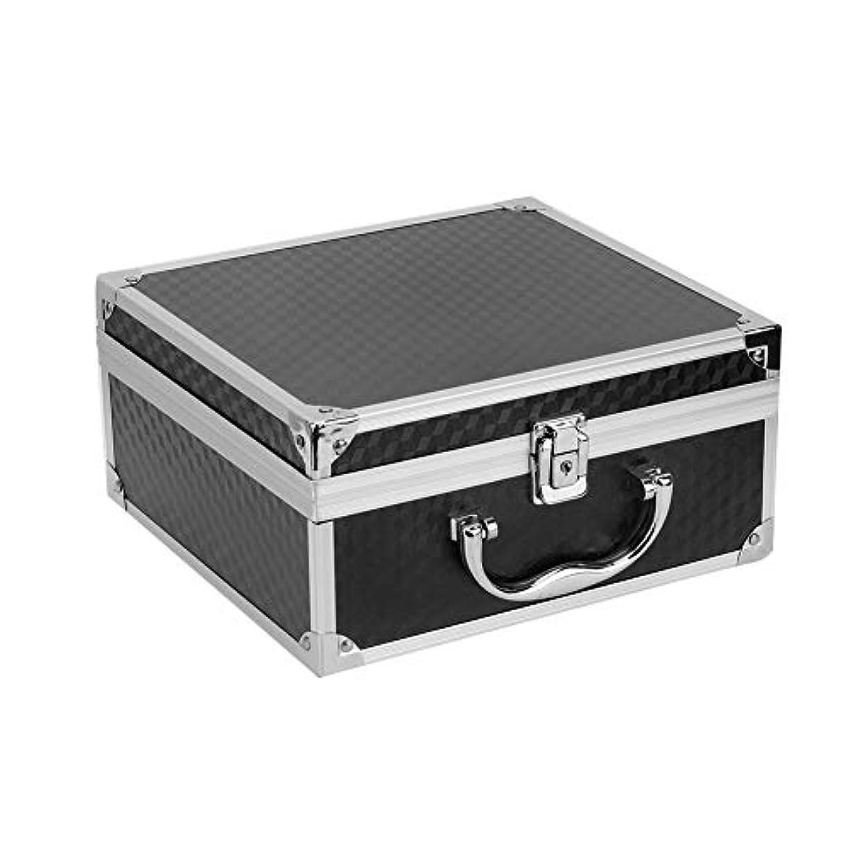 フェデレーション廃棄降雨アルミ合金の入れ墨機械箱、専門の大きい入れ墨の箱入れ墨のキット箱、ロックが付いている化粧品の収納ケースのオルガナイザーの貯蔵の供給(黒)
