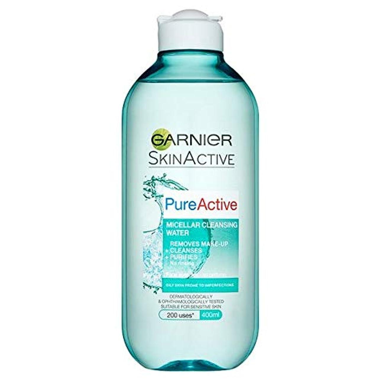 納屋文化閉じ込める[Garnier] 純粋な活性ミセル水脂性肌用400ミリリットル - Pure Active Micellar Water Oily Skin 400Ml [並行輸入品]