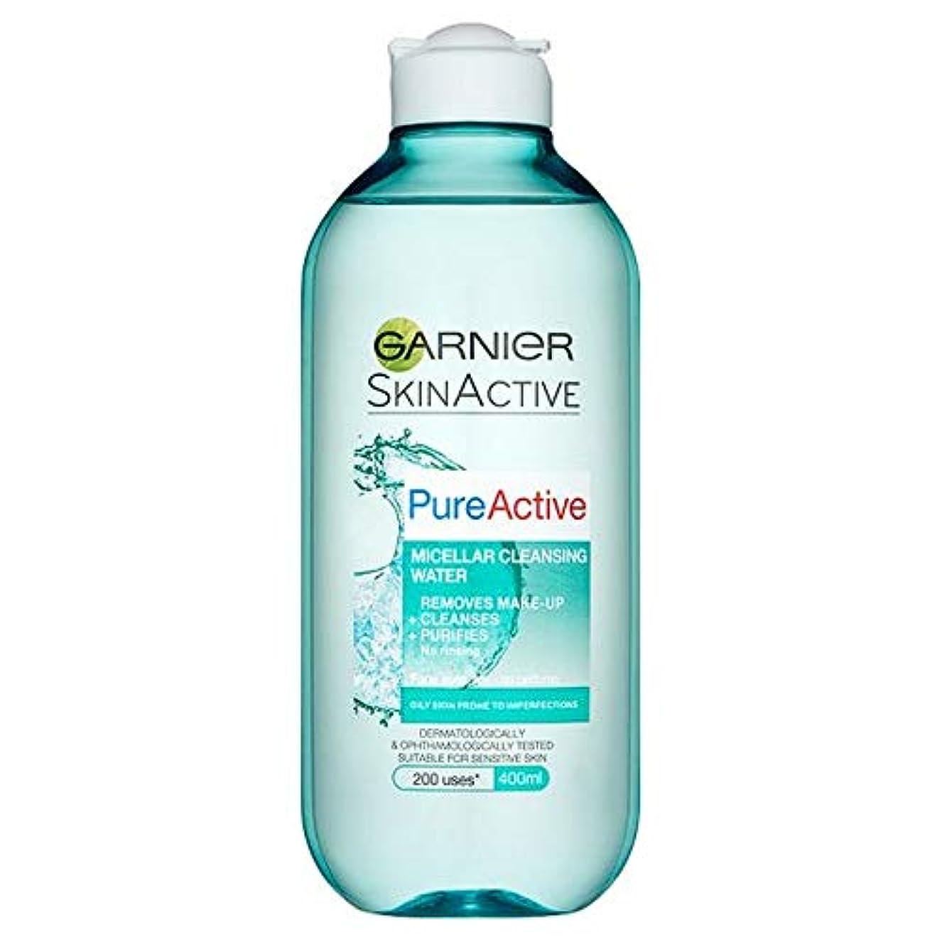 墓地移民雨[Garnier] 純粋な活性ミセル水脂性肌用400ミリリットル - Pure Active Micellar Water Oily Skin 400Ml [並行輸入品]