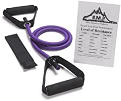Black Mountain Products Exercise Single Resistance Band with Door Anchor and Starter Guide