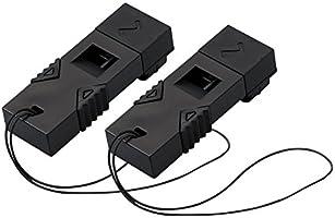 コクヨ 防災用救助笛 防災の達人 ツインウェーブ 2個セット 黒 DRK-WS1DX2