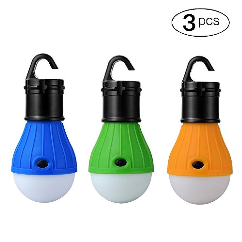 フェロー諸島うがい発音するMoobom LEDランタン 3段階点灯モード 調光式 アウトドア キャンプライト キャンプ テント ライト 電球 釣り ランタン ポータブル 懐中電灯 釣り提灯 防水仕様 3個セット
