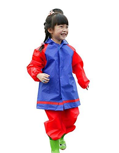 [해외]YFS 비옷 키즈 상하 세트 레인 어린이 주니어 남녀 겸용 방수 등산 통학 통원 M-XL/YFS Raincoat Kids Top and Bottom Set Rainwear Children`s Junior Dual-purpose Waterproof Climbing Commuter School M-XL