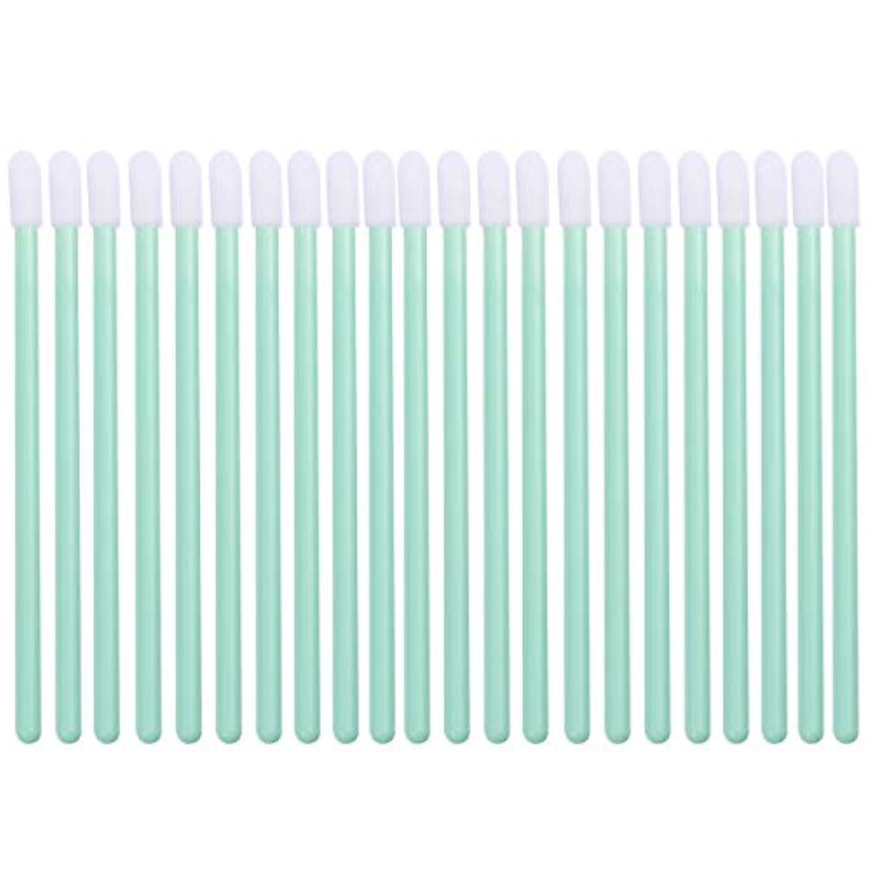 精巧な断線限界Frcolor リップブラシ 使い捨て リップスティックブラシ 化粧リップ ブラシ 多機能 メイクブラシ 使い捨て 携帯便利 100本セット(グリーン)