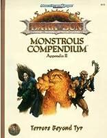 Terrors Beyond Tyr (Advanced Dungeons & Dragons, 2nd Edition : Dark Sun Monstrous Compendium Appendix II)