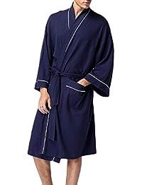 Beeatree メンズバスローブ寝具プラスサイズソフトパジャマコンフォートナイトドレス